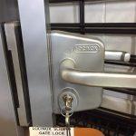 Locinox sliding gate lock LLSK MF4040 in situ