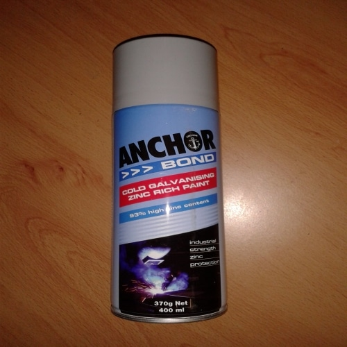 Cold Galvanising Zinc Rich Spray Paint - Anchor Bond 370g Spray Pack