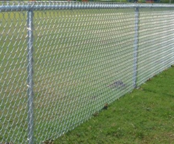 Foot tall chain link fence big  large gate