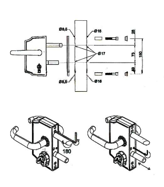comunello key locking gate residential lock z73 series. Black Bedroom Furniture Sets. Home Design Ideas