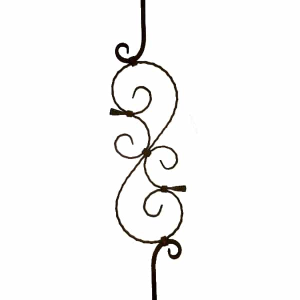 Wrought Iron Baluster Stem Style - HIP8IB21