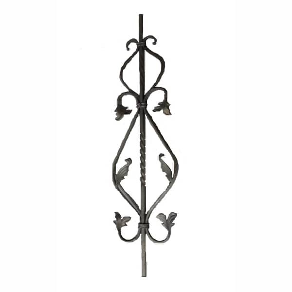 Wrought Iron Baluster with leaves - DHP03-37