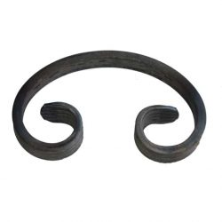 Wrought iron C scroll DHPS2