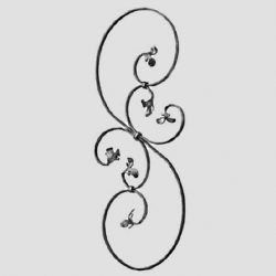 Wrought Iron Scroll Baluster 521