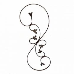 Wrought iron 521L scroll style baluster