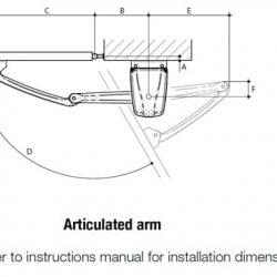 DEA Geko swing gate motor drawing