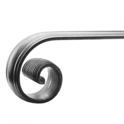 ARTB13 wrought iron end scroll