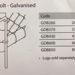 GDB Galvanised drop bolts