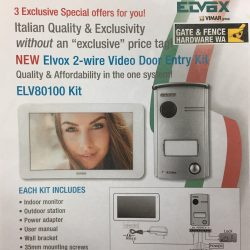ELV80100 Elvox Door Entry Intercom Kit