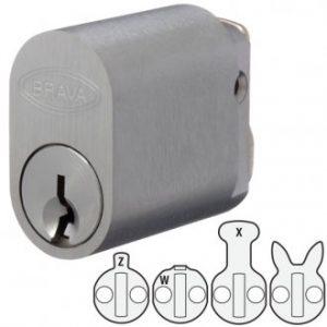 Bravo Metro CYL 5070SCKA1 key cylinder suit 3582 Lockwood mortise lock