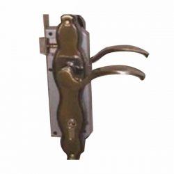Key locking gate lock - bronze