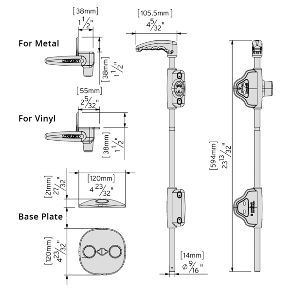 D and D lokk bolt CAD_-_LB_24_Inch_for_Metal_Gates_-_LB124BX_600x