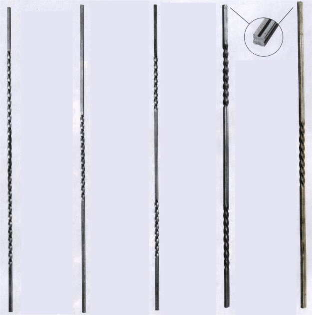 Wrought Iron Single and Double Twisted bars