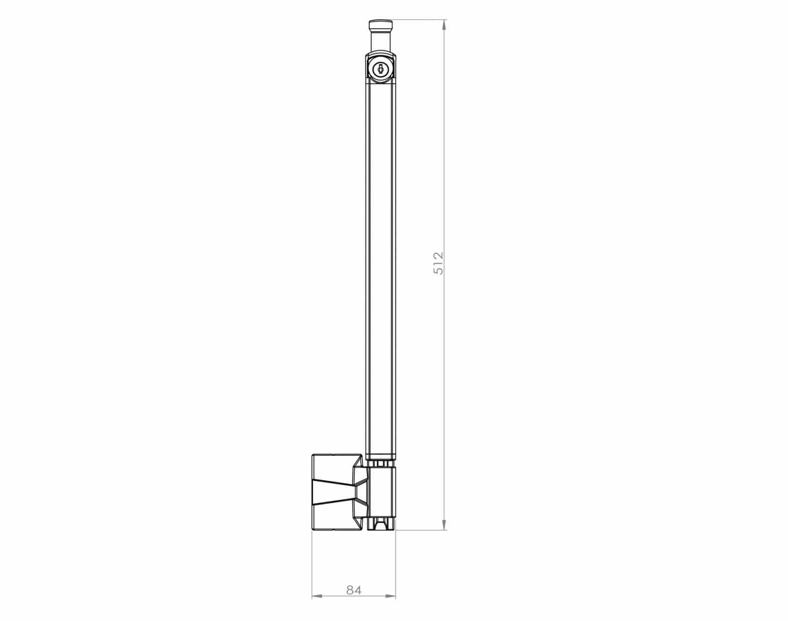 Max Safety Gate DPL1000 dimensions