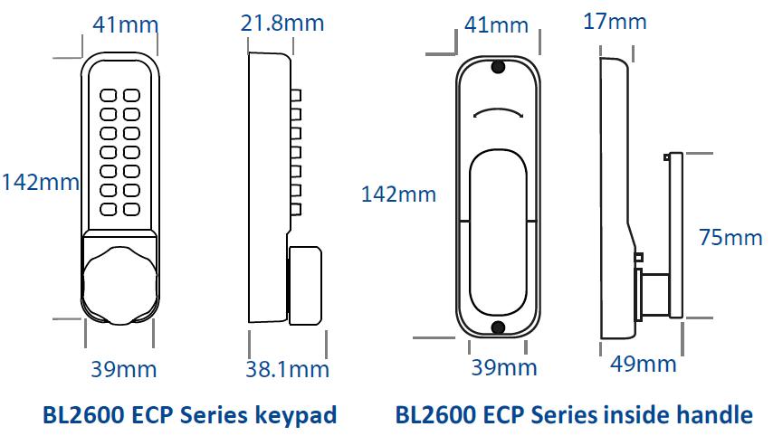 Borg BL2600-Keypad-Line-drawing