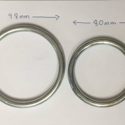 Fence panel rings