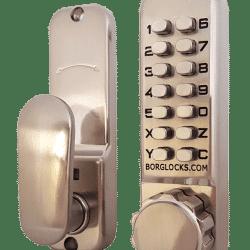 BORG DIGITAL LOCK 2600 KNOB 60MM B/SET EXTERNAL GRADE