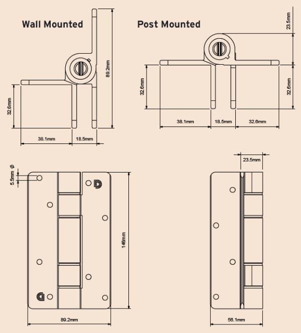 KF3A-BL dimensions