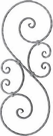 ART 541/1 wrought iron S scroll