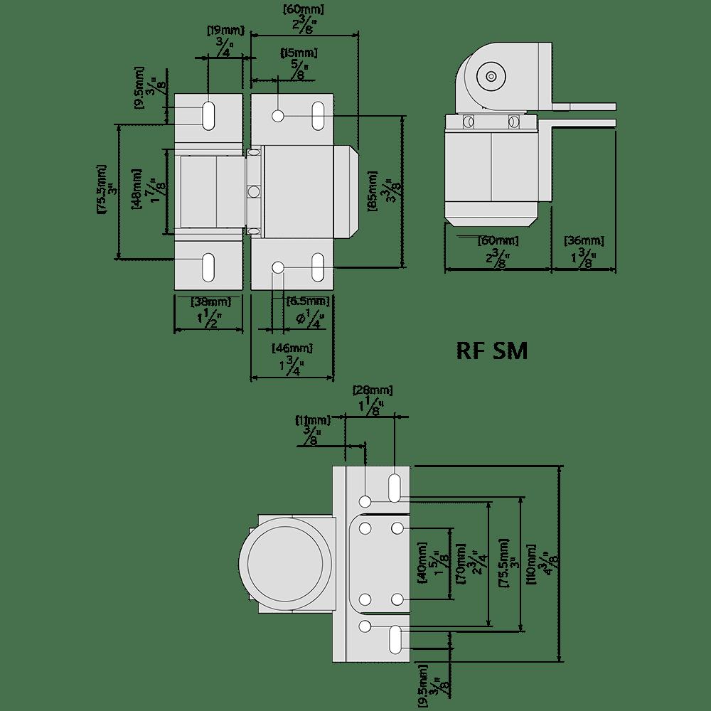 External mount D&D ReadyFit_SM hinge