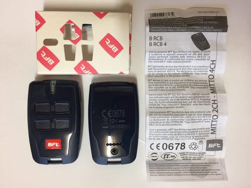 BFT Remote Control Specifications
