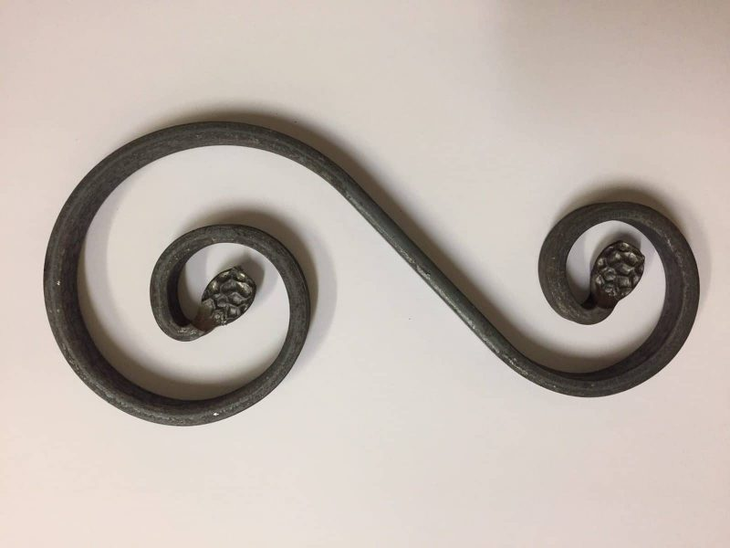 ART 86/5 Steel Uneven S Scroll with pressed end