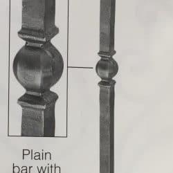 Art1769/8 wrought iron newel post