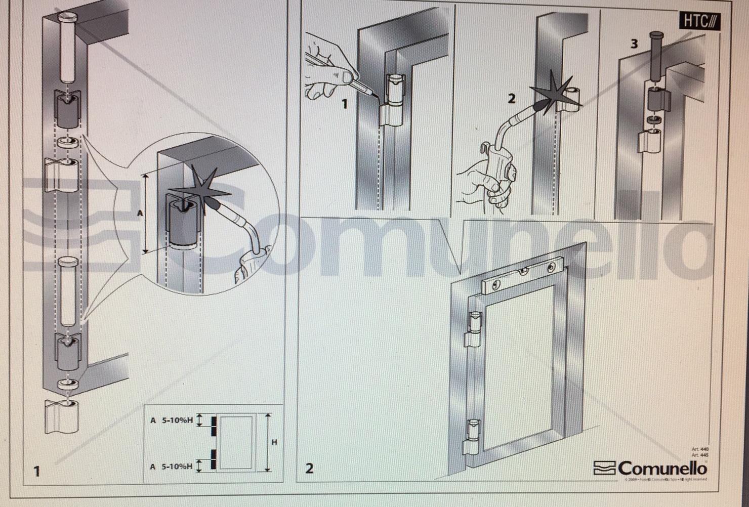 Comunello 445-90 Install Diagram