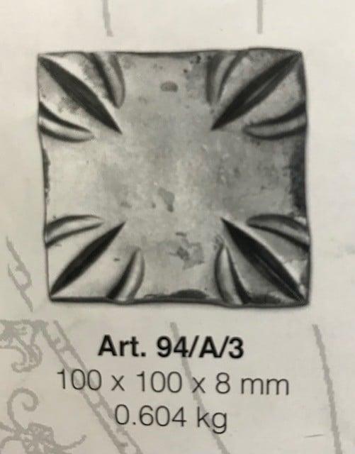Art.94A3 100x100mm base plate